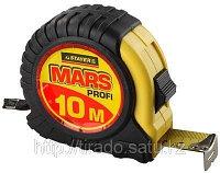 Рулетка STAYER «MARS», обрезиненный корпус, 10мх25мм