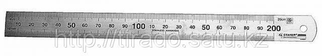 Линейка STAYER «PROFI» из нержавеющей стали, 0,2м