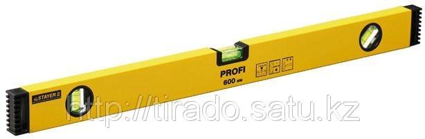 """Уровень STAYER """"PROFI"""" алюминиевый, коробчатый, усиленный, фрезерованный, 3 глазка, 150см"""