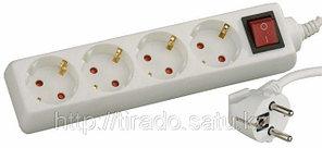 Удлинитель СВЕТОЗАР электрический с заземлением, выключателем, с защитными шторками,
