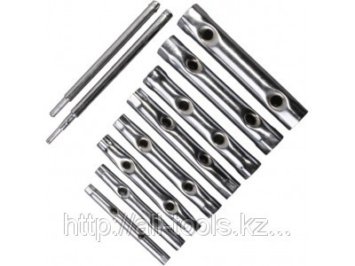 Набор Ключи STAYER трубчатые 6 - 22 мм, 10 предметов