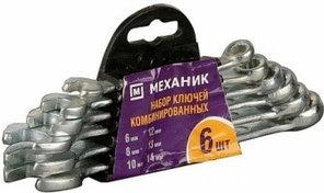 """Набор Ключи """"МЕХАНИК"""" комбинированные, оцинкованные, 6-14мм, 6шт"""
