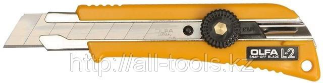 Нож OLFA с выдвижным лезвием эргономичный с резиновой накладкой, 18мм