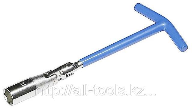 Ключ свечной ЗУБР с шарниром, 21 мм
