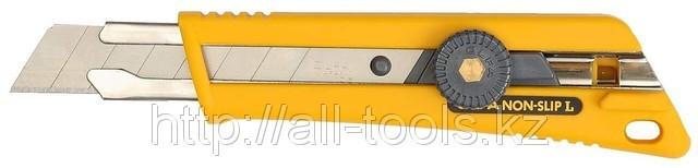 Нож OLFA с выдвижным лезвием, со специльным покрытием, фиксатор, 18мм.