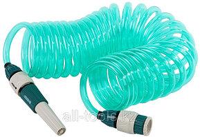 Шланг спиральный RACO для полива с наконечником и двумя внешними соединителями