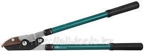 Сучкорез RACO с телескоп.ручками, 2-рычажный, с упорной пластиной, рез до 38мм, 630-950мм