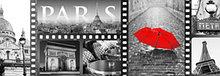 """Стеновые кухонные фартуки """"Ретро зонтик""""  2070*695*3мм"""