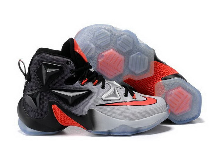 Кроссовки Nikе LeBron XIII (13) Black Grey Infrared (40-46)