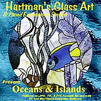 CD с шаблонами витражей «Океаны и острова»