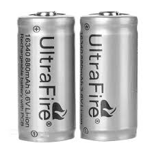 Аккумулятop 3,6v 880mAh  LC 16340  CR123A UltraFire