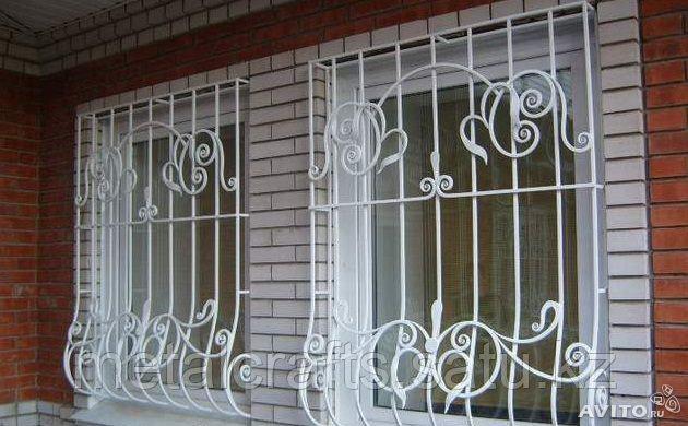 Кованые решетки для окон и дверей на заказ. Алматы - фото 3