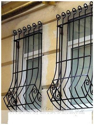 Кованые решетки для окон и дверей на заказ. Алматы - фото 4