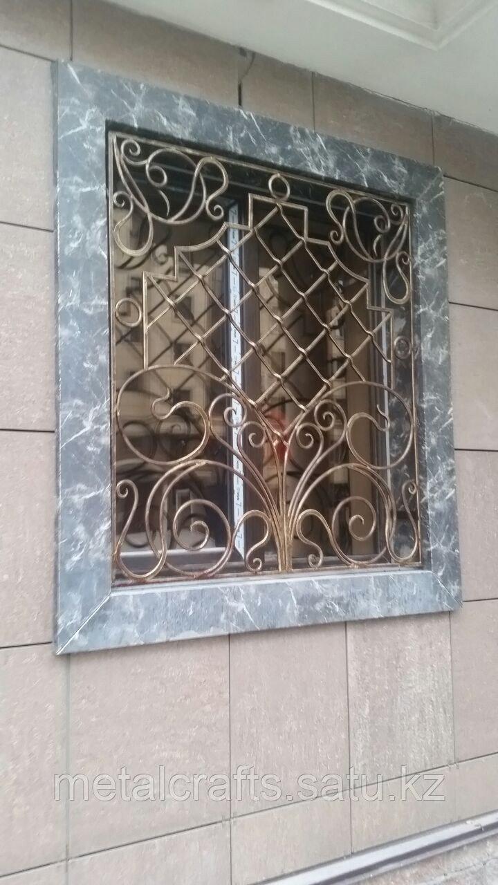 Кованые решетки для окон и дверей на заказ. Алматы - фото 1