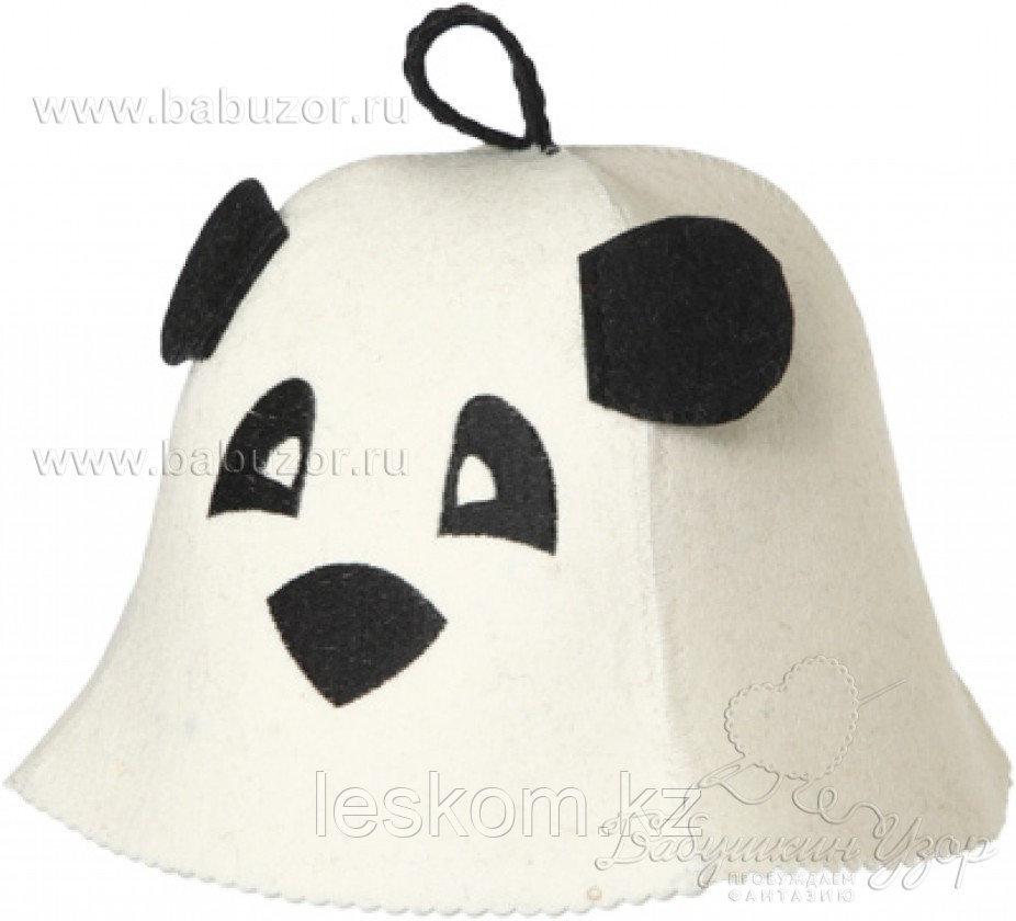 Шапка для бани детская Панда с ушками