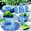 Чайно-Столовый сервиз Luminarc Plenitude Blue 38+7 предметов на 6 персон