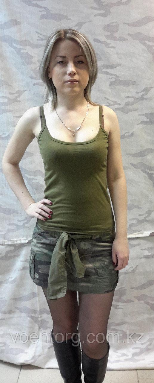 Комуфлированная мини-юбка