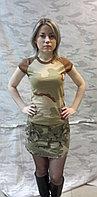 Мини-юбка, камуфлированная