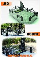 Мемориальный комплекс из серого и черного гранита