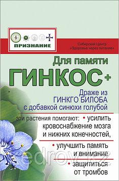 «Гинкос – гинкго билоба с синюхой голубой» для улучшения памяти и укрепления нервной системы, 48 г.