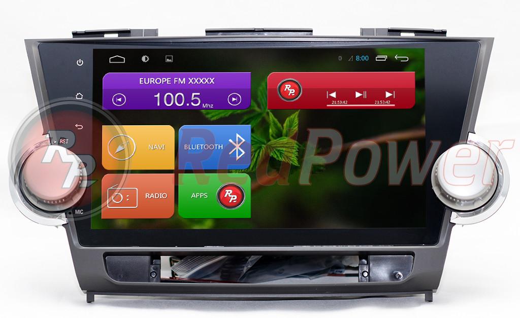 Автомагнитола Redpower Toyota Highlander , OS Android