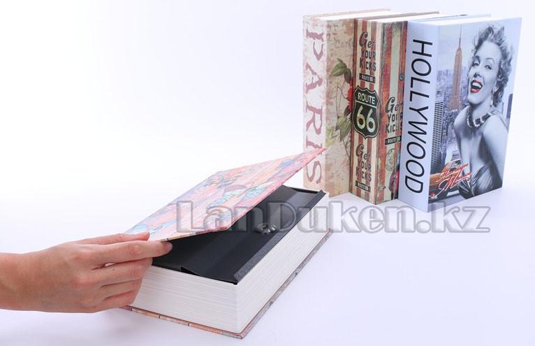 Книга сейф шкатулка с ключом Marilyn Monroe 265* 200* 65 см (большая) - фото 3