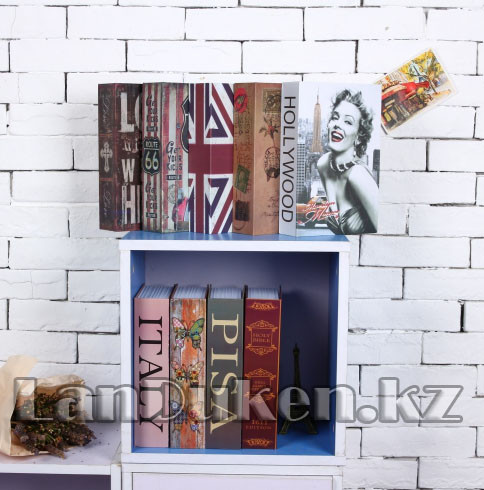 Книга сейф шкатулка с ключом Marilyn Monroe 265* 200* 65 см (большая) - фото 6