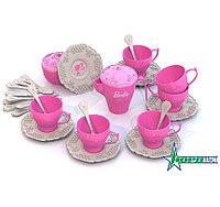 Набор чайной посудки БАРБИ (34 предмета в коробке), фото 1