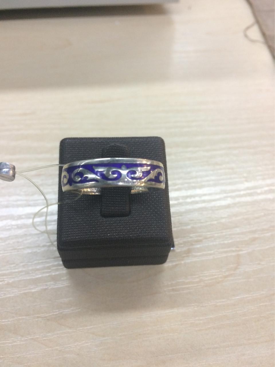 Кольцо с казахским арнаментом