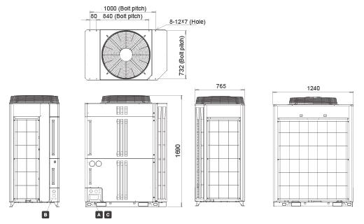 Открытый Размеры: 1690 (H) × 930 (W) × 765 (D) мм