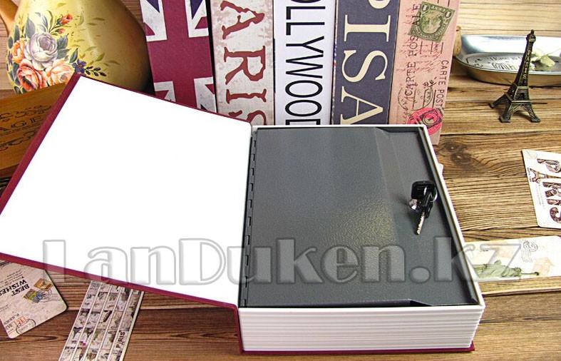 """Книга сейф шкатулка с ключом """"ROUTE 66"""" 240* 155* 55 см (средняя) - фото 5"""