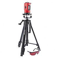 (35033) Уровень лазерный, 150 мм, штатив 1100 мм, самовырав., набор в пласт. кейсе// MATRIX