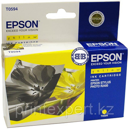 Картридж Epson C13T05944010 R2400 желтый, фото 2