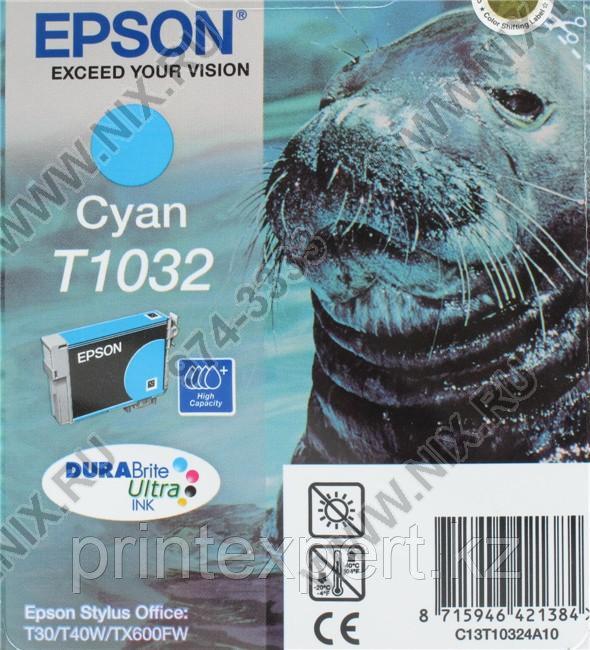 Картридж Epson C13T10324A10 I/C Stylus TX550W / T40W / TX600FW голубой