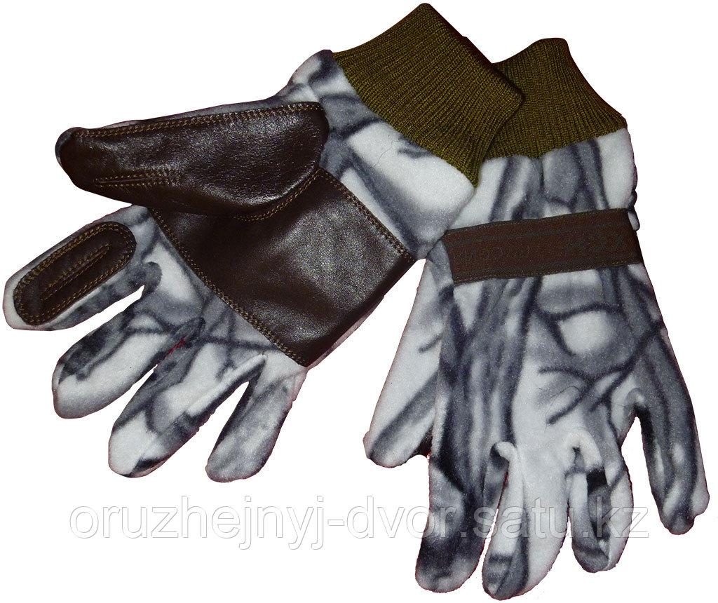 Перчатки Охотника (белый лес) XL-XXL