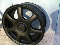 Автомобильные диски. Покраска полимерно порошковой покраской в Астане.