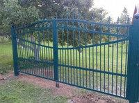 Сварные распашные ворота