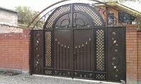 Ворота с элементами ковки, ворота металлические в Астане, Астана