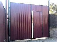 Сварные металлические ворота из профили