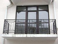 Кованые металлические перила входные, фото 1