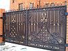 Ворота с полимерно-порошковым покрытием - долговечная краска