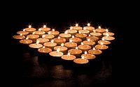 Свечи в форме сердца (50штук)