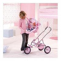 Коляска трехколесная для куклы Baby Born, розовая
