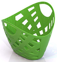 Корзинка плетёная (зеленая)