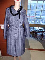 Российское зимнее стеганое пальто с отделкой норкой
