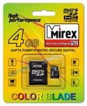 MicroSD с адаптером Mirex 16Gb