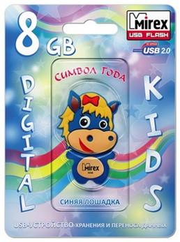 USB Mirex HORSE BLUE 8Gb