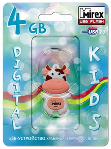 USB Mirex kids COW PEACH  16GB