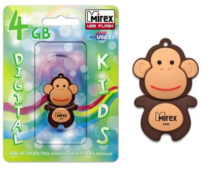 USB Mirex kids MONKEY BROWN  16GB
