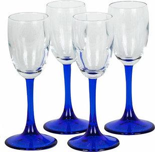 Набор рюмок для ликера 4 шт.  Pasabahce Imperial Blue 440043